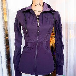 Lululemon dance studio reversible purple jacket